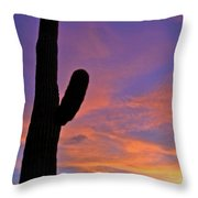 Phx July 2014 Sunsets 3 Throw Pillow