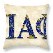 Pi Alpha Phi - Parchment Throw Pillow