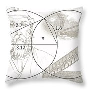 Pi Archimedes Throw Pillow