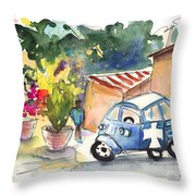 Piaggio In Palermo Throw Pillow