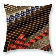 Piano Abstract 6581 Throw Pillow