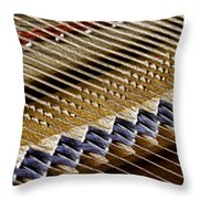 Piano Abstract 6582 Throw Pillow