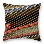 Piano Abstract 6637 Throw Pillow