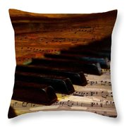 Piano And Music Throw Pillow
