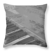 Piano And Notes Throw Pillow