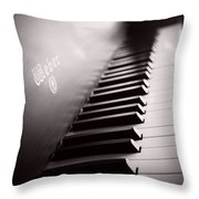 Piano At The Sprague House Throw Pillow
