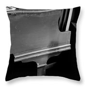 Piano In Black And White Throw Pillow