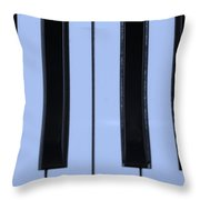 Piano Keys In Cyan Throw Pillow