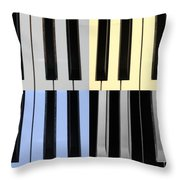 Piano Keys In Quad Colors Throw Pillow