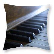 Piano Keys Throw Pillow by Jon Neidert
