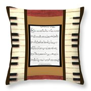 piano keys sheet music to Keep Of The Promise by Kristie Hubler Throw Pillow