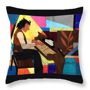 Piano Man Throw Pillow