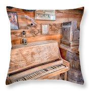 Piano Man Throw Pillow