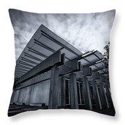 Piano Pavilion Bw Throw Pillow