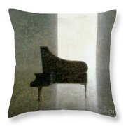 Piano Room 2005 Throw Pillow by Lincoln Seligman