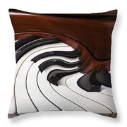 Piano Surrlistic Throw Pillow by Garry Gay