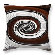 Piano Swirl Throw Pillow by Garry Gay