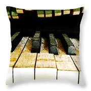 Piano Triptych Throw Pillow