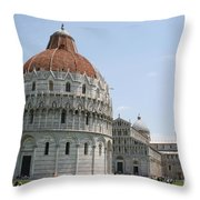 Piazza Del Duomo Pisa Throw Pillow