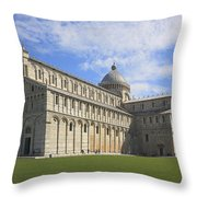 Piazza Del Duomo Pisa Italy  Throw Pillow