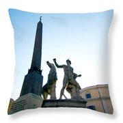 Piazza Del Quirinale Throw Pillow