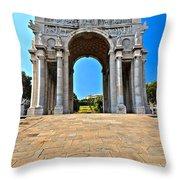 Piazza Della Vittoria - Genova. Italy Throw Pillow
