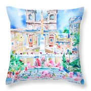 Piazza Di Spagna - Rome Throw Pillow
