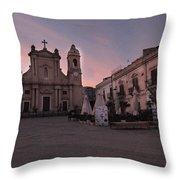 Piazza Duomo Terrasini Throw Pillow