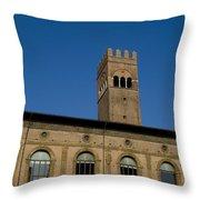 Piazza Maggiore Bologna Throw Pillow