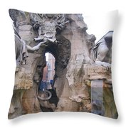 Piazza Navonna Throw Pillow