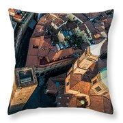 Piazza Ravegnana Throw Pillow