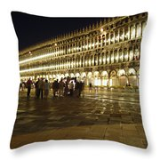 Piazza San Marco Throw Pillow by Ellen Henneke