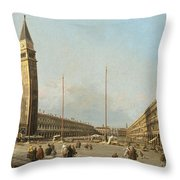 Piazza San Marco Looking South And West Throw Pillow