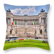 Piazza Vanizia Throw Pillow