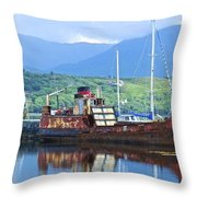 Pibroch Glascow Rusty Ruin Throw Pillow