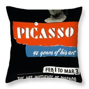 Picasso 40 Years Of His Art  Throw Pillow
