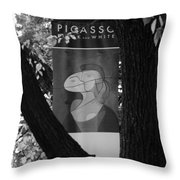 Picasso In Black And White Throw Pillow