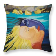 Picasso Inspired Hand Embroidery Throw Pillow