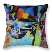 Picasso   Night Fishing At Antibes Throw Pillow