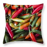 Pick A Peck Of Peppers Throw Pillow