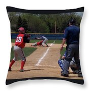 Pick Off Attempt At 1st Base Throw Pillow