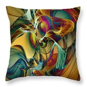 Picked Up By The Wind Throw Pillow by Klara Acel