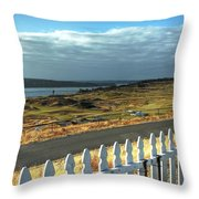 Picket Fence - Chambers Bay Golf Course Throw Pillow