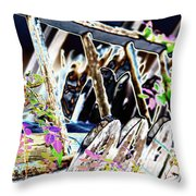 Picket Line Throw Pillow
