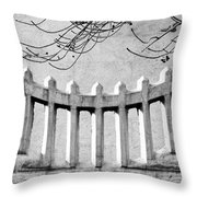 Picket Moon - Fence - Wall Throw Pillow