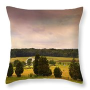 Pickets Charge - Gettysburg - Pennsylvania Throw Pillow