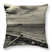 Picketts Charge The Angle Black And White Throw Pillow