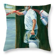 Pickin' Up Sticks Throw Pillow