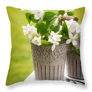 Picking Blossom Throw Pillow