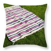 Picnic Blanket Throw Pillow